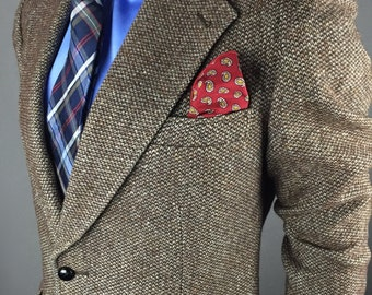 Vintage Tweed Sport Coat By Savoy Taylors Guild Made In Ireland SUPER SHARP