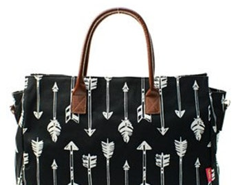 Black Arrow Fashion Tote Bag - Personalized/Monogrammed