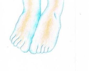 cold feet | print