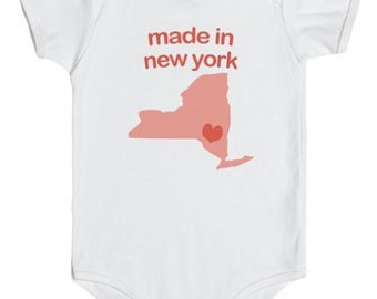 Made in New York Onesie (Blue, Orange & Pink)