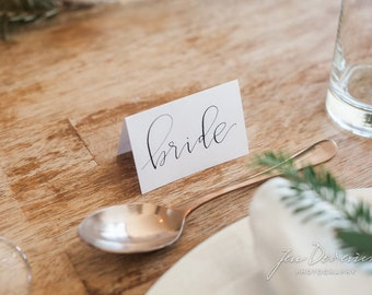 Calligraphy Wedding and Special Event Place Cards