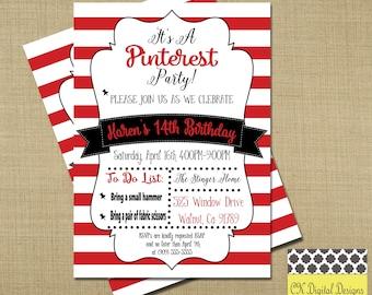 Pinterest Birthday Party Invitation // Craft Party Invitation