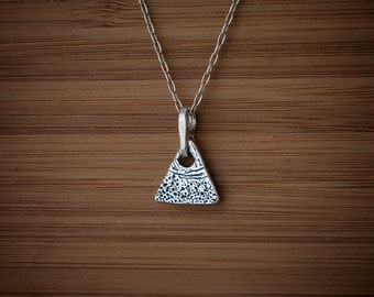 Designer Abstract Triangle Charm or Earrings  - STERLING SILVER- Chain Optional