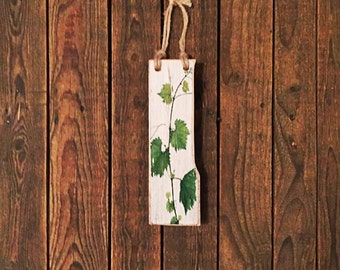 Tall, simplw,,Vibrant Rustkc Reclaimed Timber 'Vine' Wall Hanging