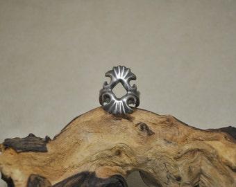 Sterling Silver Vintage Sand Cast Ring - Size 11