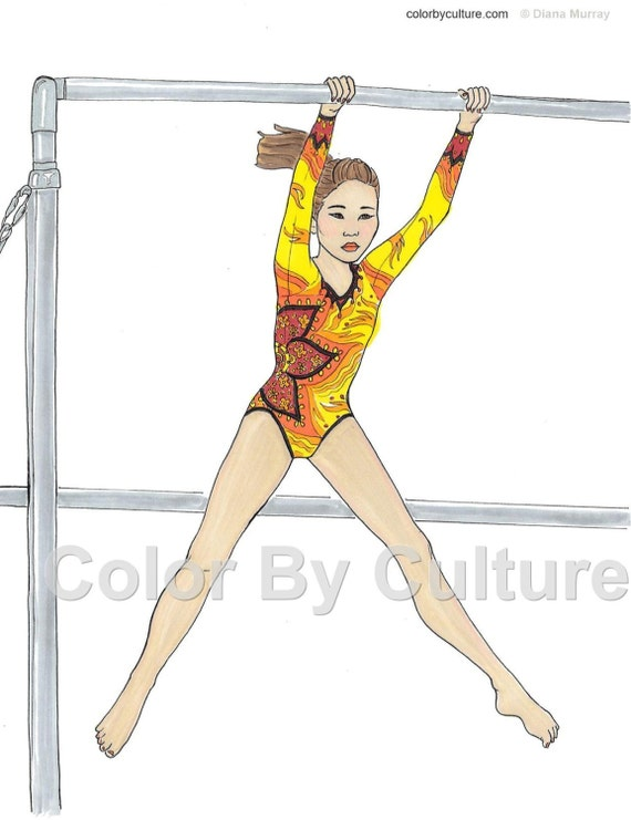 gymnastics coloring book fashion coloring book printable coloring pages adult coloring book teen coloring book kids coloring book - Gymnastics Coloring Pages