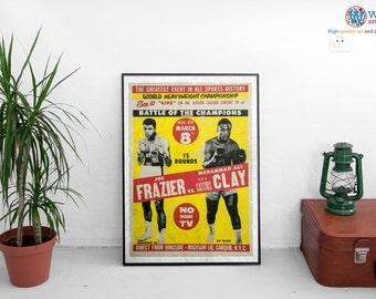 Muhammad Ali vs Joe Frazier - Billboard Boxing / Fight Poster/Print/Art