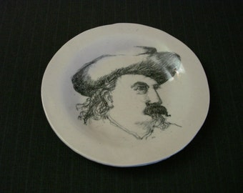Wild Bill Cody Portrait Plate, Buffalo Bill [Vintage]
