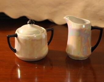 Vintage Made in Germany Lusterware Cream & Sugar