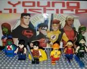 Young Justice Set Of 6 DC Minifigures Teen Titans Robin Kid Flash Aqualad Artemis Superboy Ms. Martian (LEGO Compatible)