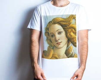 Sandro Botticelli Venera portrait T-Shirt Mens tshirts Gifts for husband Brother gift Gift for father Hipster shirt