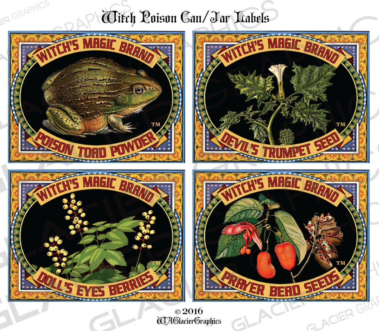 Halloween witch labels vintage poison jar labels poison for Classic house labels
