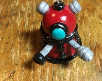Dalek polymer clay charm