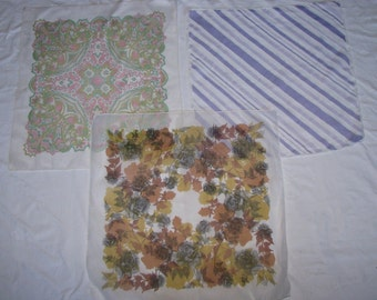 Set of 3 SCARVES nylon SCARF vintage rare 3 different designs translucent