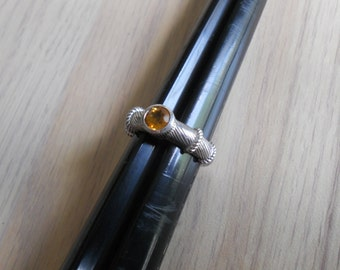 Ring  Sterling Silver and Citrine.   Stock #(1153).