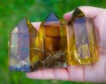 Highest Quality Smoky Citrine Quartz Wand Point, Citrine Quartz Wand, Healing Crystal Wand, Meditation Stone, Healing Chakra,Magical Citrine