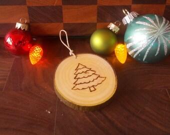Personnalized, Wood slice Christmas tree ornament, custom, rustic, decoration, custom - Boules de Noel en  bois, sur mesure, rustique