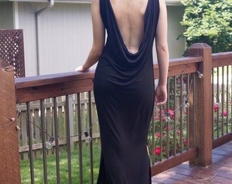 Long Open Back Dress
