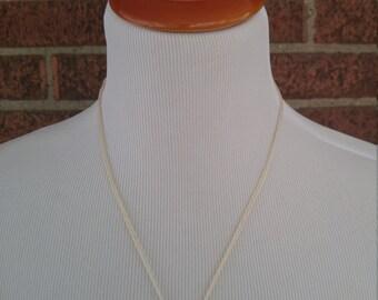 The Trixie- Vintage Gold Button Pendant Necklace