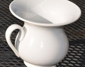 Antique (c. early 1900s) Societe Ceramique | Regout Maastricht | Maestricht white porcelain spittoon/cuspidor.  Made in Holland.