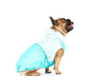 Dog Raincoat - Waterproof fabric and fleece lining