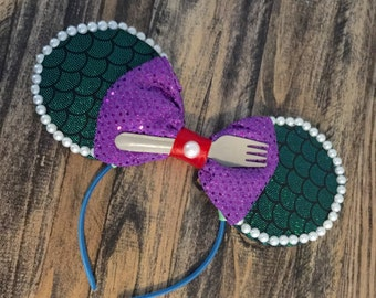 Private Listing for HelenDallas83- Little Mermaid / Mermaid / Ariel Mouse Ears