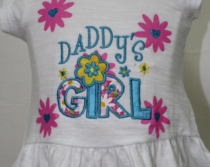 Baby girl Summer shirt, Baby girl ruffle shirt, Daddy's girl shirt, Flower ruffle shirt, Beach shirt, T shirt for baby girls