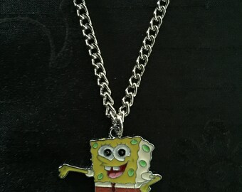 Silver Plated Spongebob Squarepants Necklace