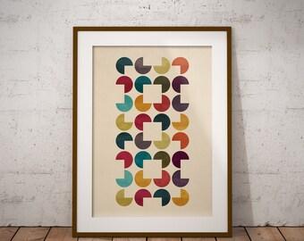 Geometric Minimal Scandinavian Style Giclee Art Print Gift Poster