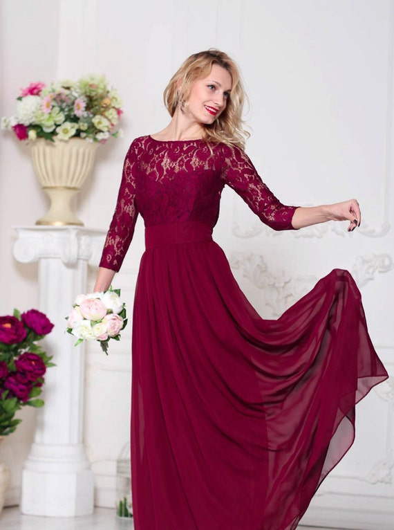 Wine Bridesmaid Dresses 71
