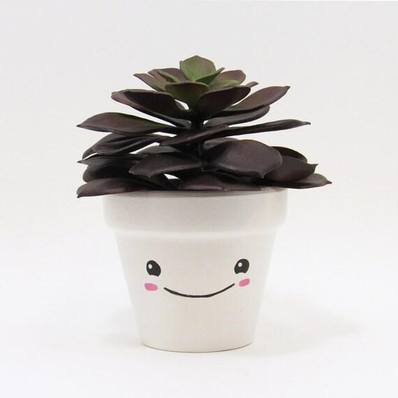 Succulent Planter Succulent Pot Cute Face Planter Plant