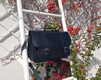Mens Leather Messenger Bag - Handmade Full Grain Leather 15 inch Laptop Bag. 4 COLORS AVAILABLE!