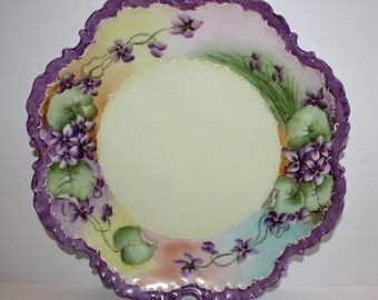 Monbijou China Plate with Violets