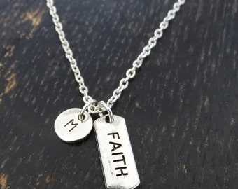 Faith Necklace, Faith Charm, Faith Pendant, Faith Jewelry, Religious Necklace, Religious Jewelry, Spiritual Necklace, Christian Necklace