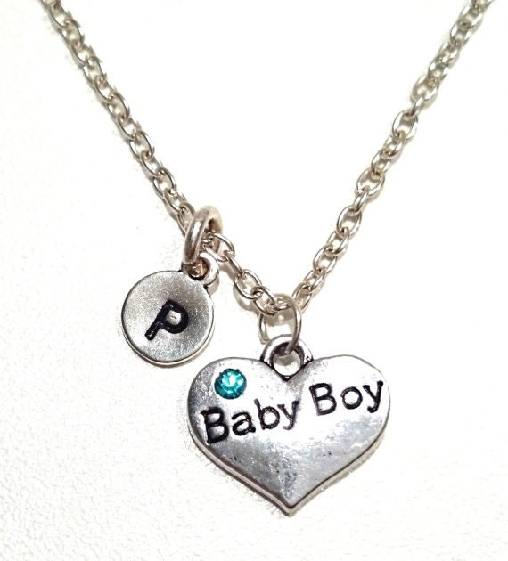 baby boy necklace baby boy necklace baby boy charm baby boy