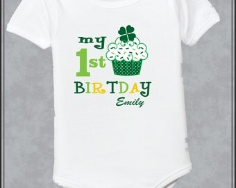 Personalized Birthday St Patrick Day Shirt St Patrick Day Birthday Shirt