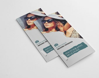 Photography Brochure Template | Trifold Photography Marketing Brochure | Photography Package guide | PB-029