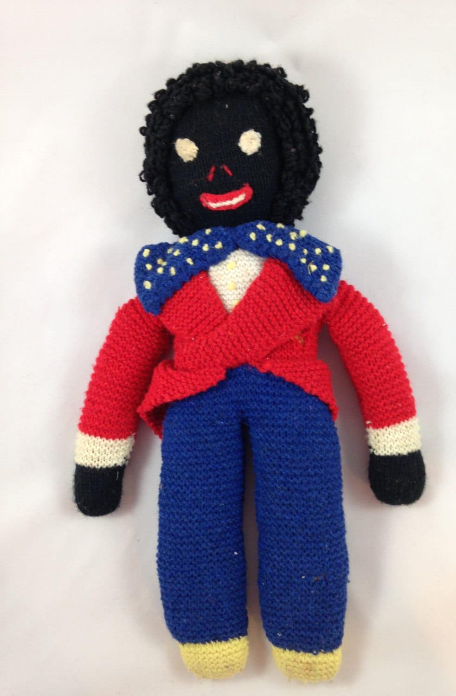 Vintage Golliwog Doll 1950s Golliwog Handmade Doll From