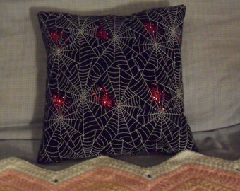 Spooky Spider Pillows