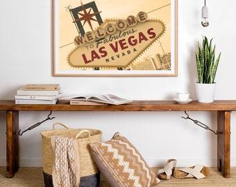 Welcome to Las Vegas, Las Vegas Strip, Las Vegas Print, Nevada Decor, Photography, Fine Art Photo, Sign Photo, Las Vegas Sunset, Retro Sign