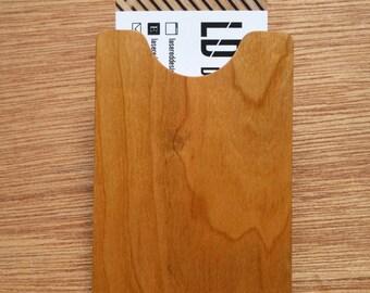 Cherry Wood Business Card Holder
