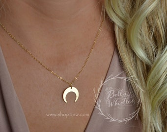 Moon Necklace, Crescent Moon Necklace, Sterling silver, gold filled, rose gold filled, gold moon necklace, gift for her