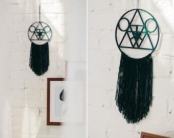 Modern minimalism green dreamcatcher