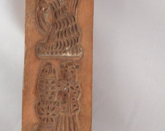 Hand Carved Wooden Speculaas/ Springerle Cookie Mold