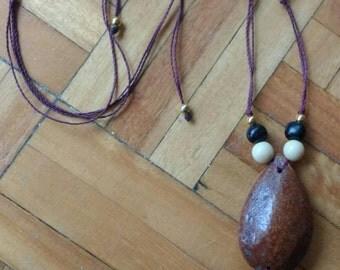Light Piasaba Seeds necklace / pendant Natural