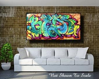 Graffiti Art Canvas, Large Wall Art Canvas, Large Canvas Art, Graffiti On Canvas, Canvas Art, Large Wall Art, Street Art, Graffiti Art,Mural