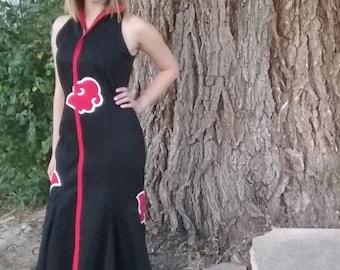 Akatsuki Naruto Fishtail Gown