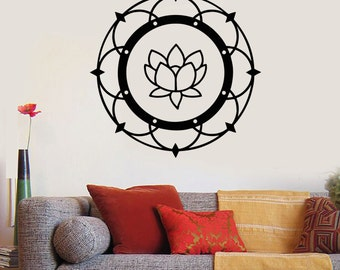 Wall Art Mural Mandala Meditation Yoga Lotus Guaranteed Quality Decal 2213di