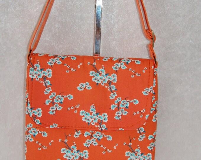 The Jane Oriental Blossom fabric Cross body shoulder bag purse handbag handmade in England