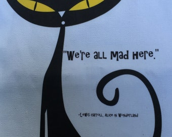 We're All Mad Here - Book bag/tote